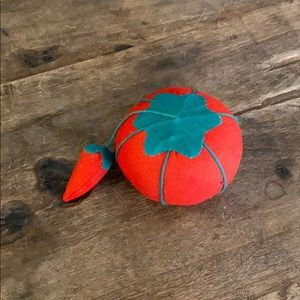 Vintage Tomato w/ Attached Pepper Pin Cushion